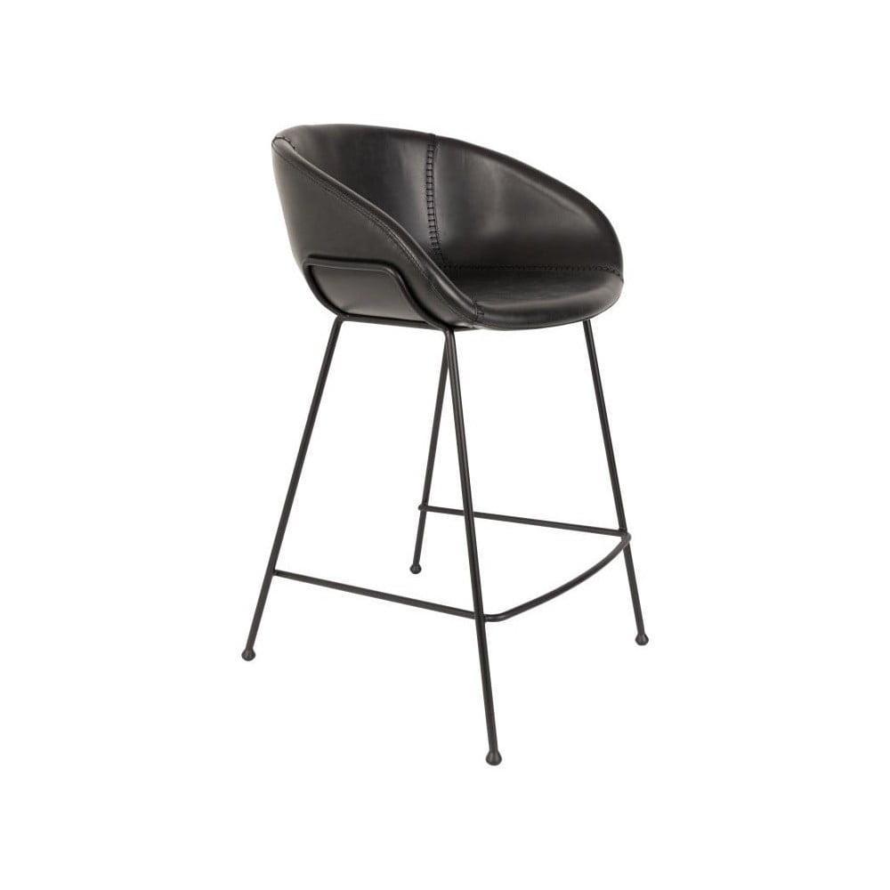 Sada 2 čiernych barových stoličiek Zuiver Feston, výška sedu 76 cm