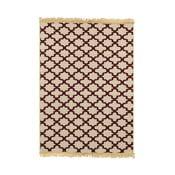 Vínovo-béžový koberec Ya Rugs Yildiz, 80x150cm