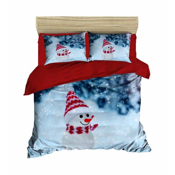 Vianočné obliečky na dvojlôžko s plachtou Aida, 160×220 cm