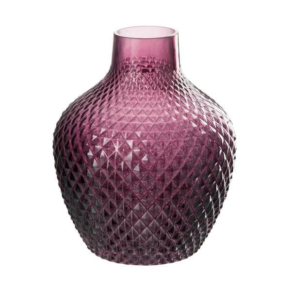 Sklenená váza J-Line Tria, výška 20 cm