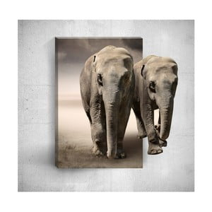 Nástenný 3D obraz Mosticx Two Elephants, 40×60 cm