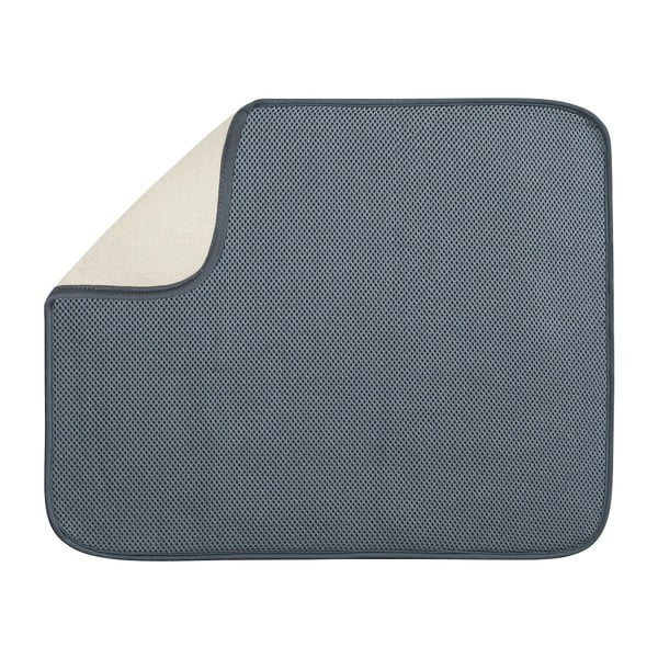Sivá podložka na umytý riad InterDesign iDry, 46x41cm