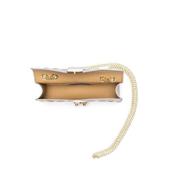 Kožená kabelka Anna Luchini 3044 Grigio