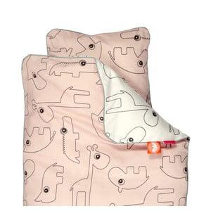 Detské ružové obliečky Done by Deer Contour, 80 x 100 cm
