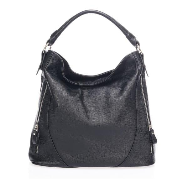 Čierna kožená kabelka Markese Savino