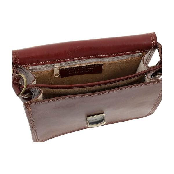 Hnedá kožená kabelka Ore Diece Agrigento