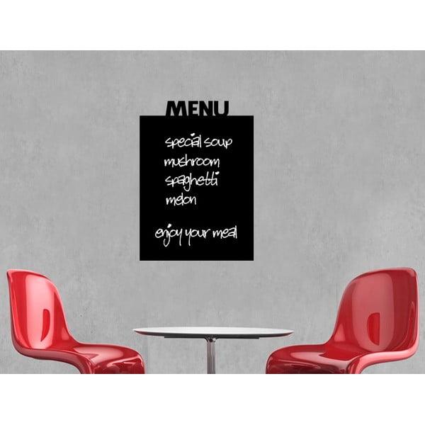 Nástenná tabuľová samolepka Menu