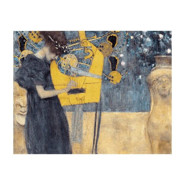Reprodukcia obrazu Gustav Klimt - Music, 50x40cm
