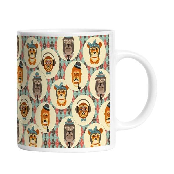 Keramický hrnček Retro Monkeys, 330 ml
