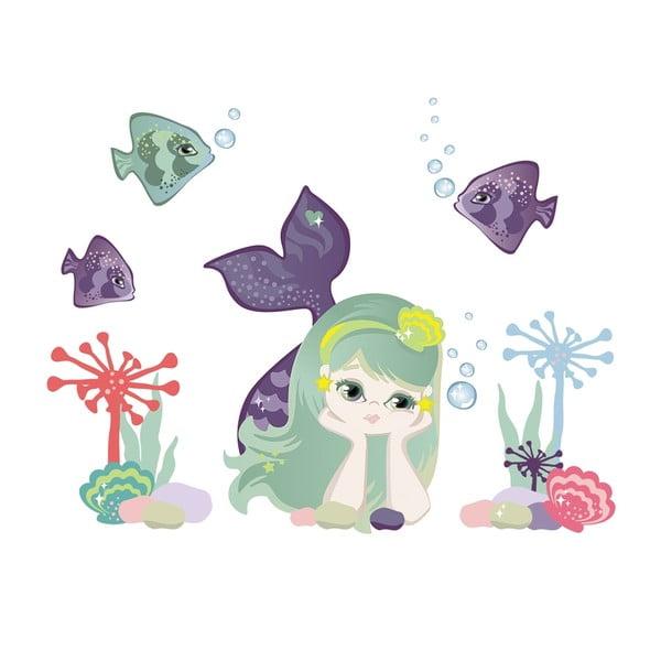 Samolepka na viac použití Small Mermaid