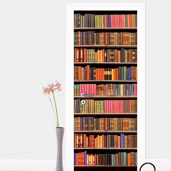 Samolepka na dvere Library