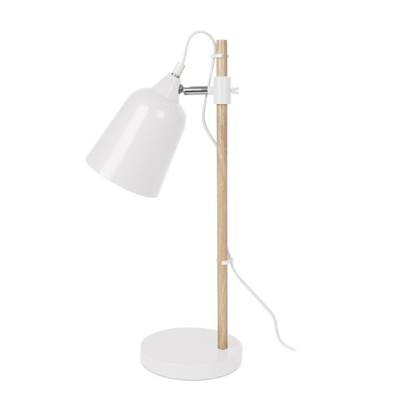 Biela stolová lampa ETH Wood