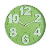 Zelené nástenné hodiny Ixia