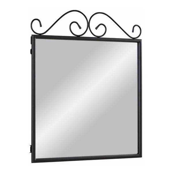 Čierne kovové zrkadlo Støraa Isabelle