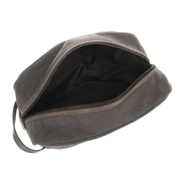 Kožená kozmetická taška Lake Vintage Slate