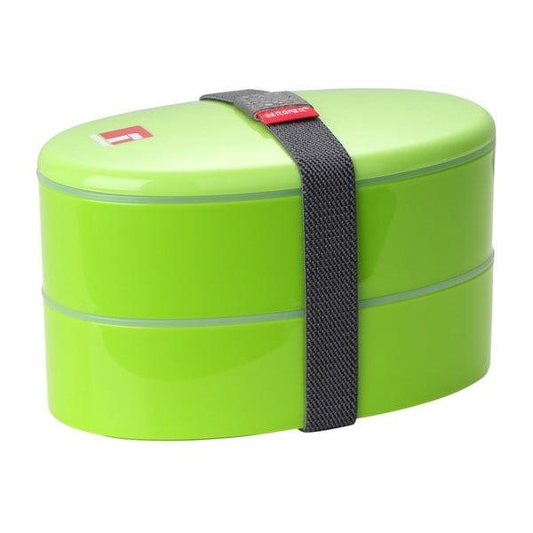 Zelený desiatový box s príborom Bergner Outside