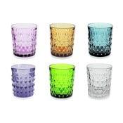 Sada 6 farebných pohárov Villad'Este Fiji-Rio, 350ml