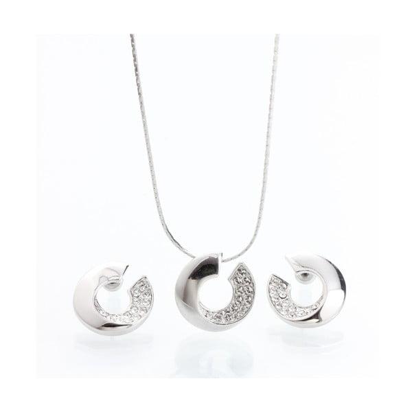 Set náhrdelníka a náušníc s krištáľmi Swarovski Elements Laura Bruni Atola