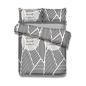 Sada bavlnenej obliečky na perinu a 2 obliečok na vankúše AmeliaHome Averi Sweet Home Light, 200×200 cm + 80×80 cm