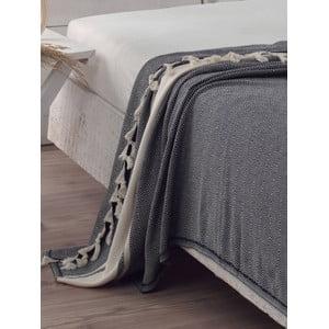 Prikrývka na posteľ Elmas Black, 200x240 cm