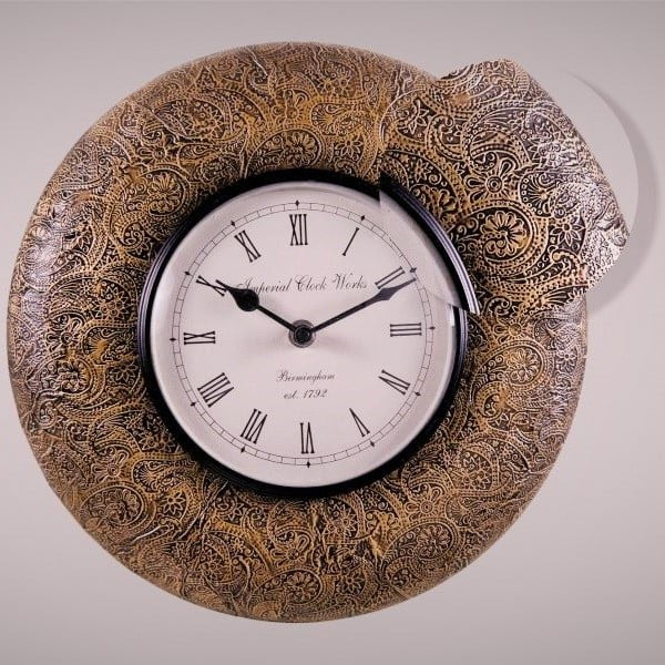 Nástenné hodiny Jemný vzor