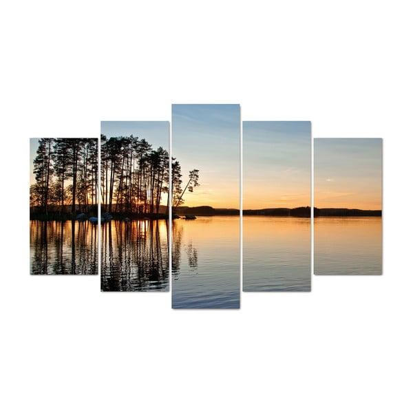 5-dielny obraz Morning, 60x100 cm