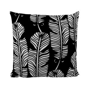 Vankúšik Black Shake White Feathers, 50x50 cm