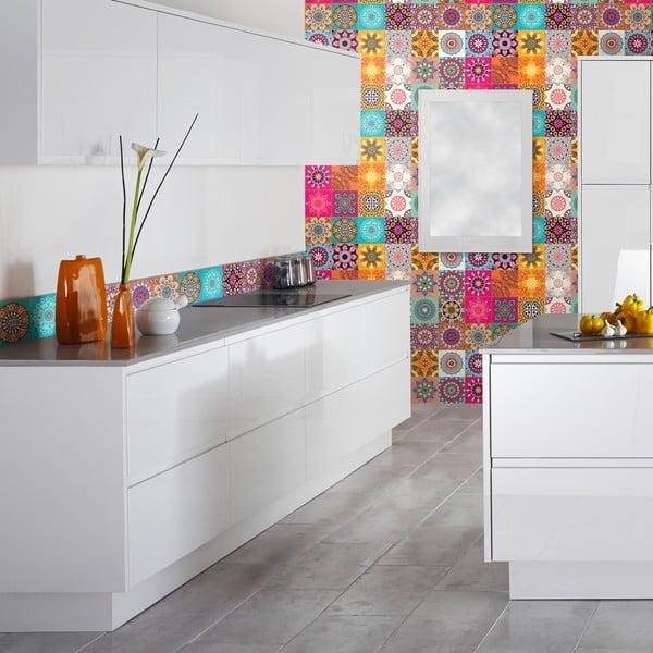 Sada 24 dekoratívnych samolepiek na stenu Ambiance Clarissa, 20×20 cm
