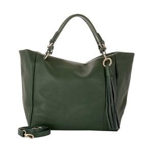 Zelená kabelka z pravej kože Andrea Cardone Green Star