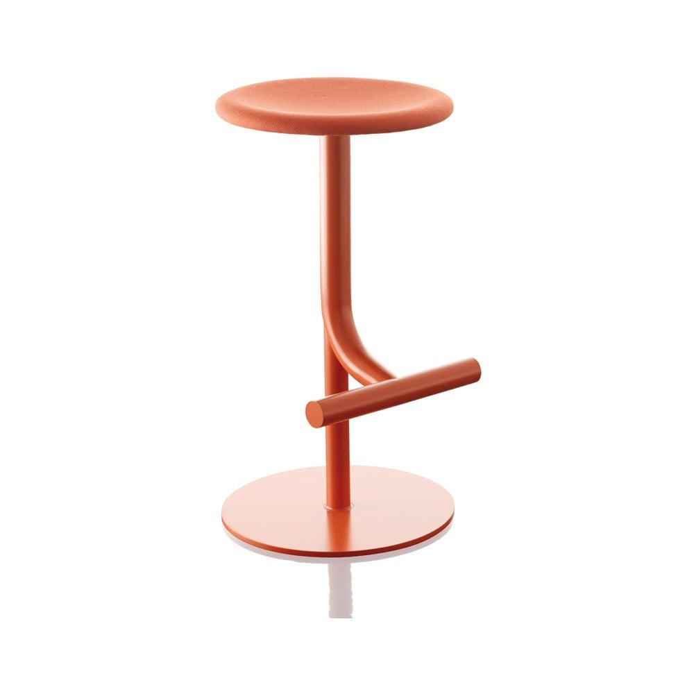 Červená barová stolička Magis Tibu, výška 60/77 cm