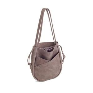 Sivá kožená kabelka Woox Bella