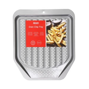 Plech na pečenie hranoliek s nepriľnavým povrchom Dexam Oven Chip, 39×34 cm
