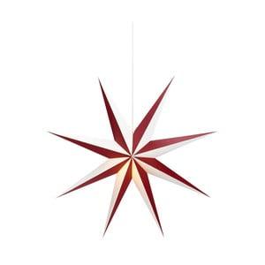 Červeno-biela závesná sveteľná dekorácia Markslöjd Saturnus, ø 75 cm
