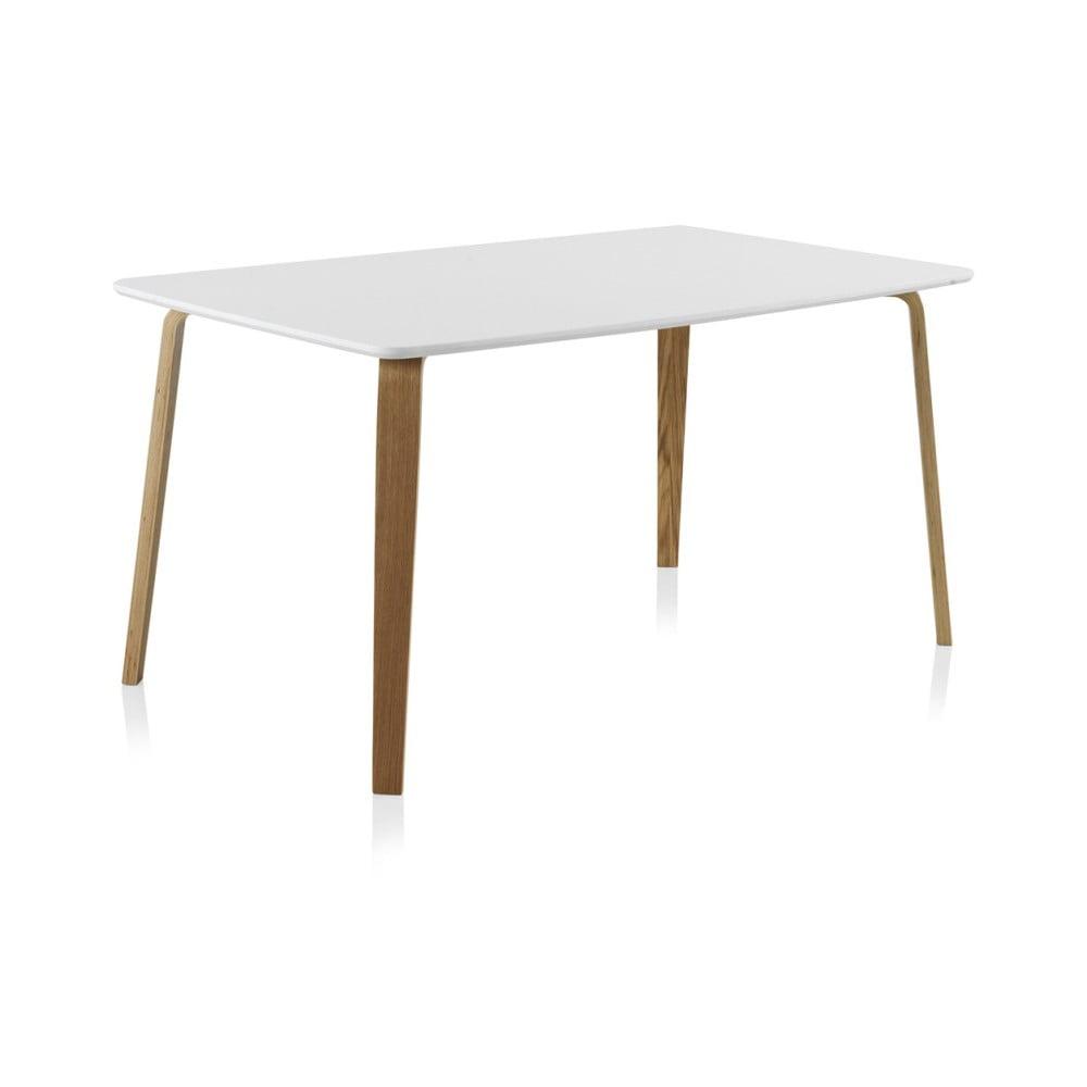 Biely jedálenský stôl Geese, 150 × 90 cm