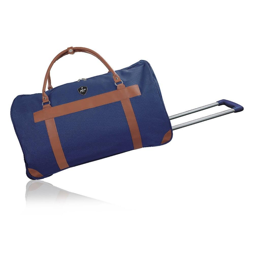 Modrá cestovná taška na kolieskách GENTLEMAN FARMER Oslo, 63 l