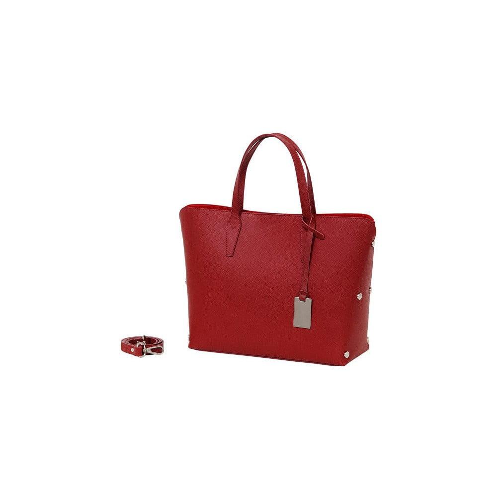 Červená kabelka z pravej kože Andrea Cardone Dettalgio 1fe2095b03e