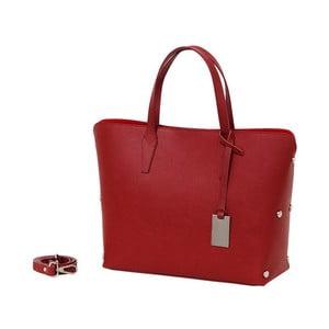 Červená kabelka z pravej kože Andrea Cardone Dettalgio
