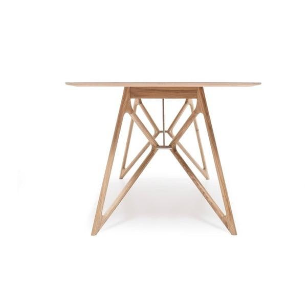 Dubový jedálenský stôl Tink Linoleum Gazzda, 180cm, modrý