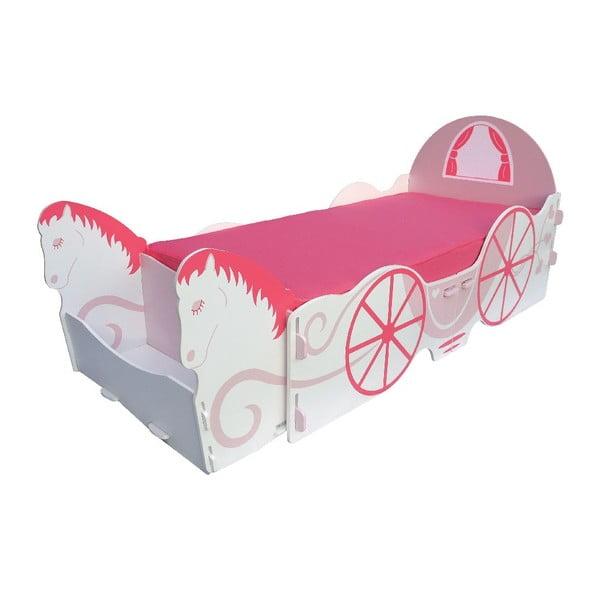 Detská posteľ Princess Carriage Single, 238x101,5x100 cm