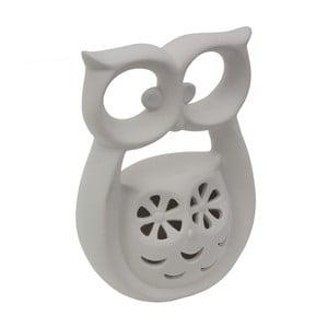 Biela porcelánová dekoratívna soška Mauro Ferretti Gufo Kid, výška 18 cm