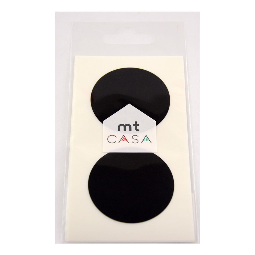 Sada 10 čiernych samolepiek washi páska MT Masking Tape Casa