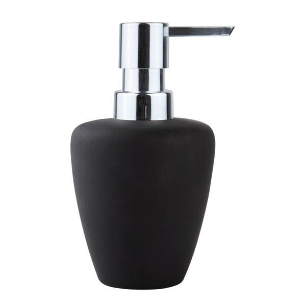 Čierny dávkovač mydla Zone Soft