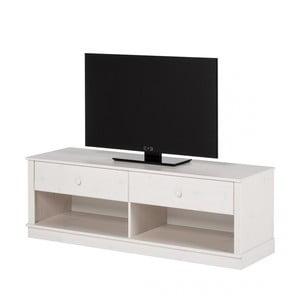 Biela TV komoda z borovicového dreva Støraa Annabelle