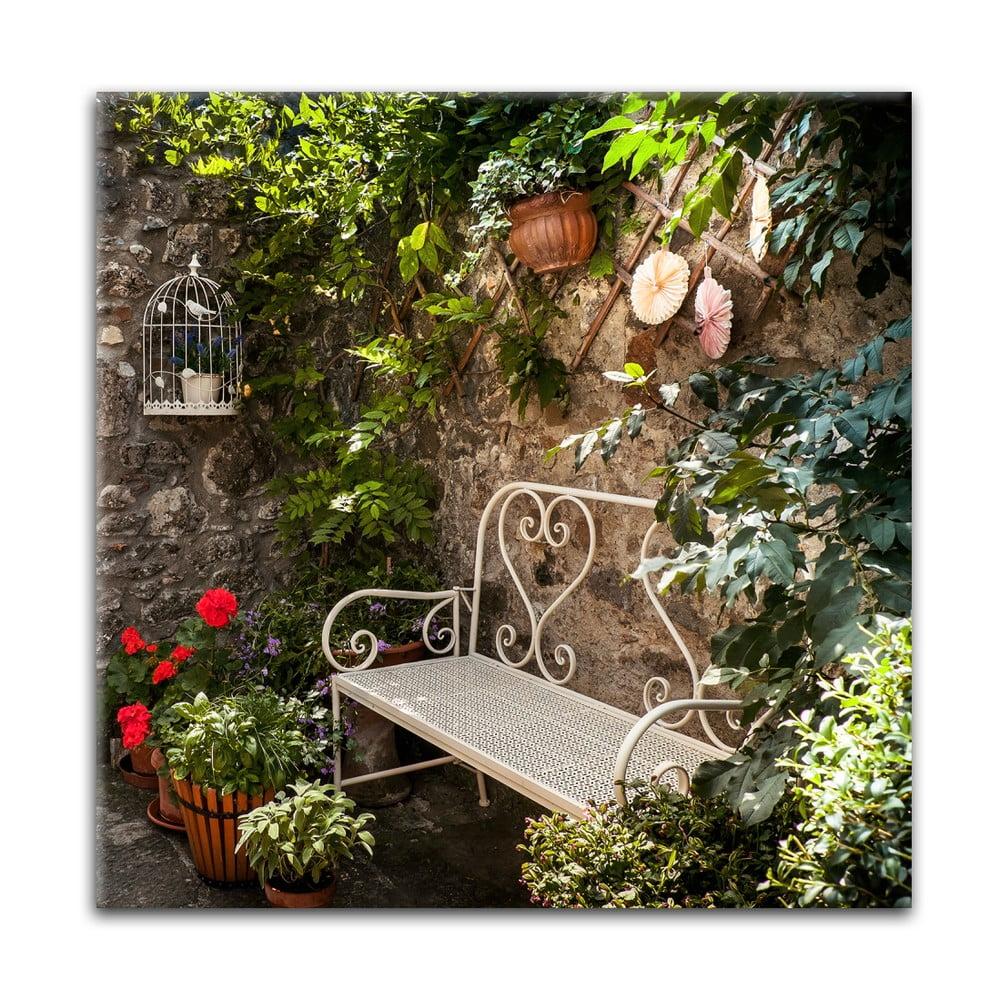 Obraz Styler Glas Destination Bench, 30 × 30 cm