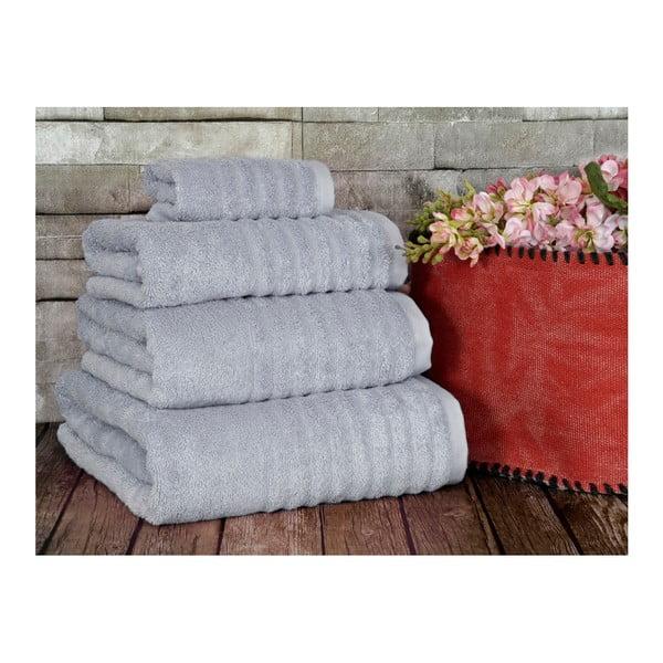 Sivý uterák Irya Home Wellas Bamboo, 30x50 cm