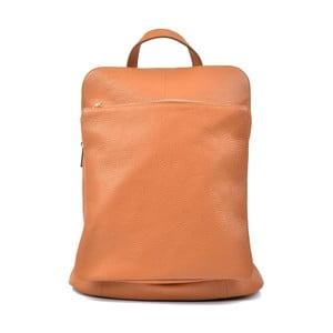 Koňakovohnedý kožený batoh Isabella Rhea Turo
