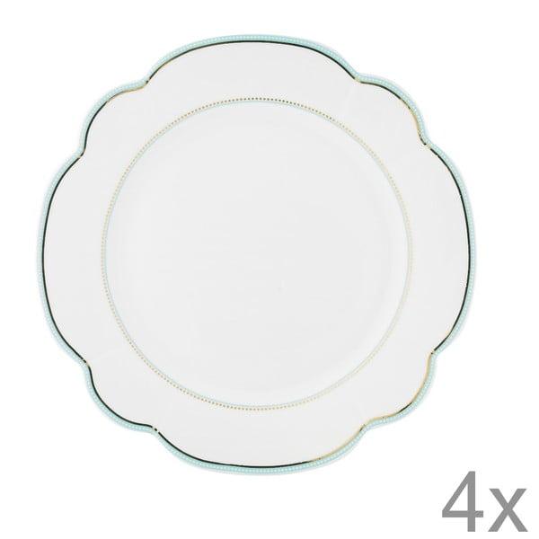 Porcelánový tanier  Continental od Lisbeth Dahl, 24 cm, 4 ks