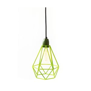 Svietidlo so zeleným tienidlom a čiernym káblom Filament Style Diamond # 1