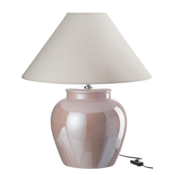 Ružová kameninová stolová lampa s tienidlom  J-Line