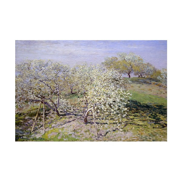 Obraz Claude Monet - Spring, 45x30 cm